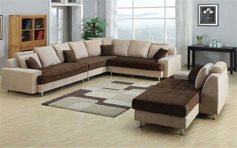 joice modern two tone sectional sofa
