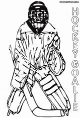 Hockey Goalie Pages Coloring Print Drawing Clipartmag Coloringway sketch template