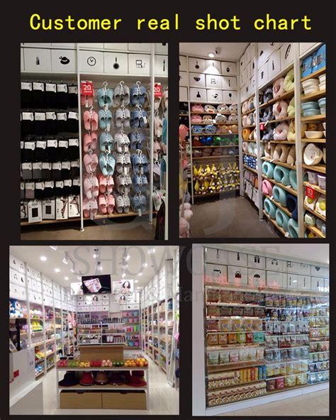 miniso retail shop food display rack stand