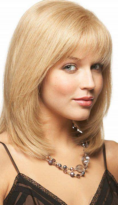 lovely shoulder length layered bob hairstyles  bangs