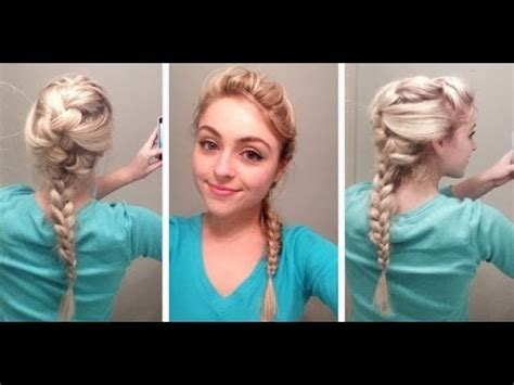 elsa hair tutorial  disneys frozen youtube