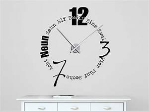 Designer Uhr Wand : wandtattoo uhr schriften wanduhr bei ~ Lateststills.com Haus und Dekorationen