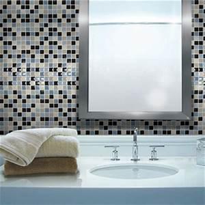 Carrelage Sol Adhesif : carrelage adh sif salle de bain smart tiles carreaux mosaique ~ Nature-et-papiers.com Idées de Décoration
