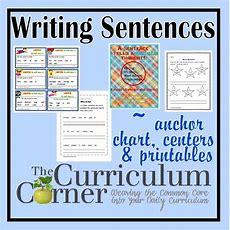 Writing Sentences  The Curriculum Corner 123