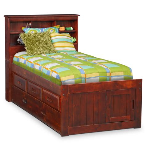 trundle bed with drawers ranger twin bookcase bed with 3 underbed drawers and 17578 | 408453