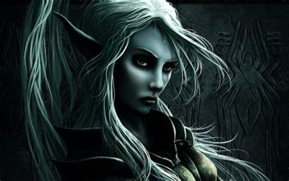 Elf Fantasy Wallpapers Names Dark Elves Female
