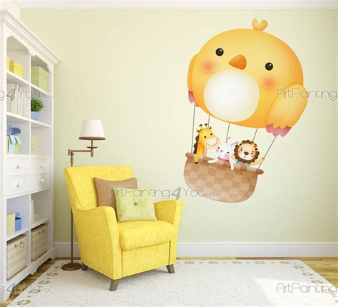 stickers animaux chambre b饕 stickers chambre bébé animaux montgolfière 2525fr