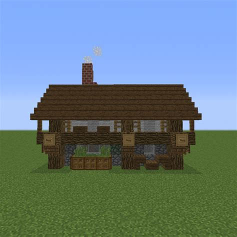 small village rustic house  blueprints  minecraft houses castles towers