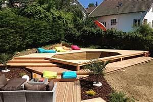 nivremcom terrasse bois autour piscine hors sol With amenagement autour d une piscine hors sol 5 amenagement piscine de jardin idees et photos inspirantes