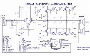 Power Amplifier Ocl 500watt Rms