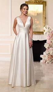 simple elegant satin wedding dress for older brides over With simple elegant wedding dresses second wedding