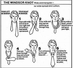 How To Tie A Necktie Diagram Printable