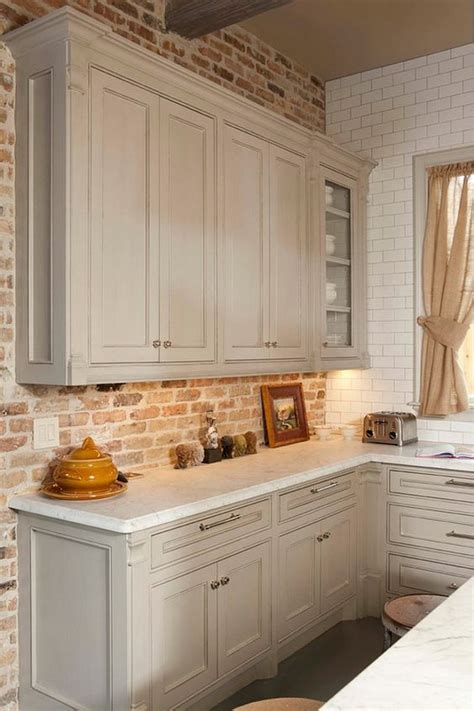 brick kitchen backsplash 30 practical and really stylish brick kitchen