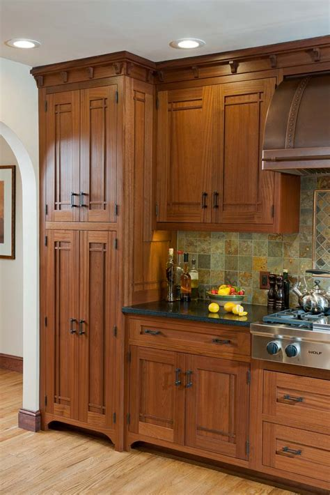 arts and crafts kitchen cabinets prairie style cabinetry crown point cabinetry 7513