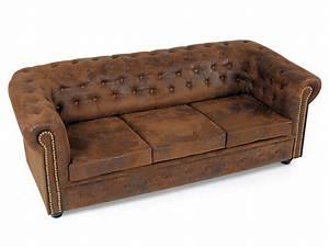 Chesterfield Sofa Wildlederoptik : chesterfield 3er sofa gobi braun ~ Indierocktalk.com Haus und Dekorationen