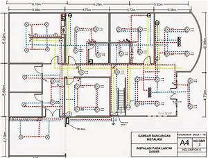 Menggambar Rancangan Instalasi Listrik Untuk Rumah 2 Tingkat Dengan Visio
