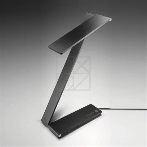 bureau design noir le a led be light le led design noir qisdesign