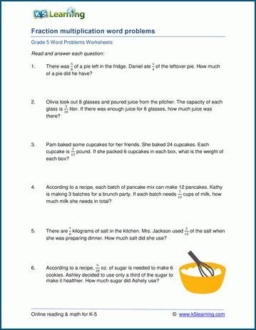 grade word problem worksheets   printable