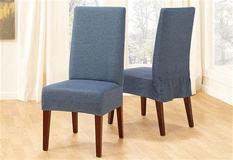 denim dining chair cover contemporary slipcovers