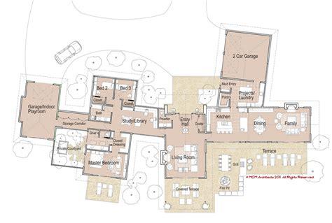 modern home blueprints mcm design modern house plan 1