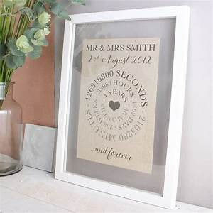 linen anniversary time print by no ordinary gift company With linen gifts for wedding anniversary