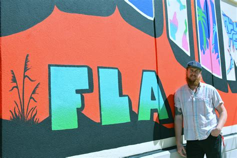 artist completes mural  destin commons news