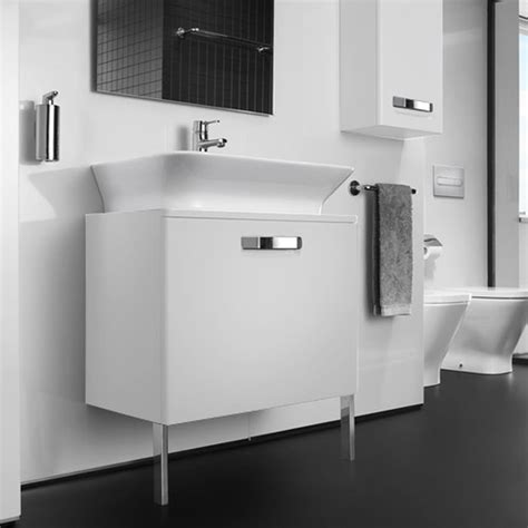 roca  gap matt white base unit  drawer  mm basin