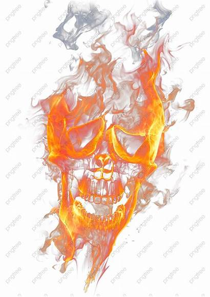 Skull Flame Fire Transparent Clipart Icon Watercolor