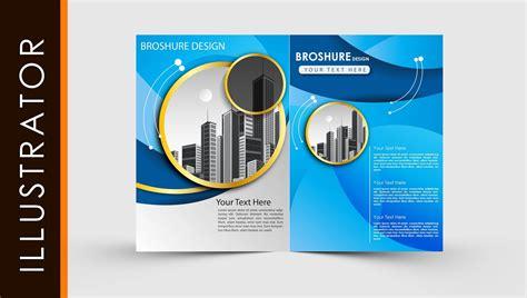 adobe illustrator template brochure  fold