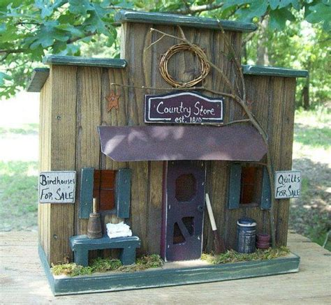 Primitive Birdhouse Country Store Lighted