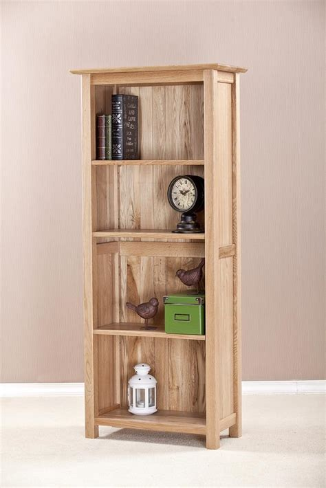 Assembled Bookcases by Oak Narrow Bookcase 4ft 11 With 4 Shelves