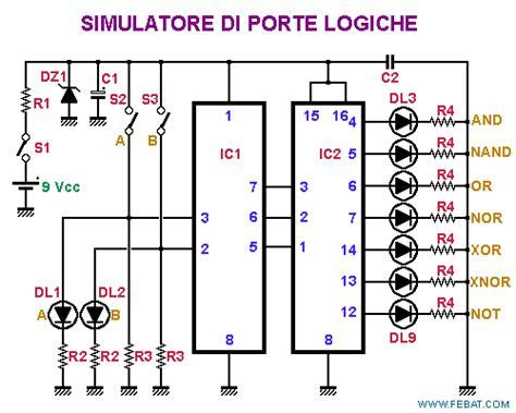 integrati porte logiche simulatore di porte logiche pic12c508 e pic12f675