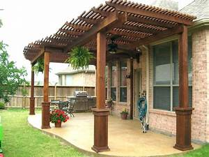 Retractable Awning Wood Patio Covered Extraordinary Wall