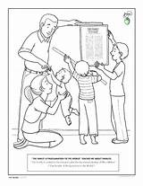Missionary Coloring Lds Printable Getcolorings sketch template