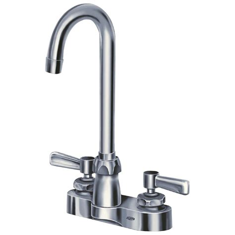 zurn 4 in centerset 2handle gooseneck bathroom faucet in