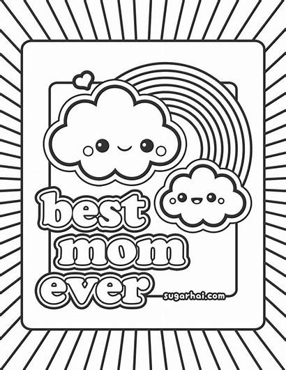 Thank Coloring Pages Mom Printable Teacher Getcolorings