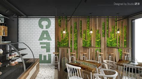 Searching for popular coffee shops near you in kolkata where you can spend a quality time with their family and friends. S Café - Bar design with green walls, curved wood, rough wood - Coffee shop design - Industrial ...