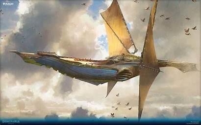 Weatherlight Skyship Magic Gathering Airship Fantasy Jaime