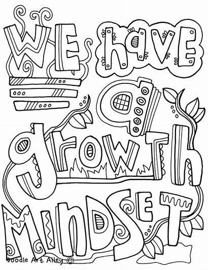 Mindset Growth Coloring Pdf Classroom Doodles Printable