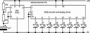 electronics club project 39random39 flasher for 8 leds With led circuits pdf