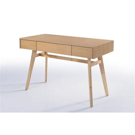 bureau bois scandinave bureau droit scandinave denez en bois chêne naturel