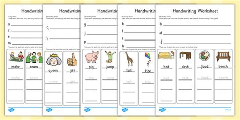 handwriting worksheets letter formation writing english