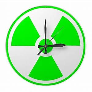 Radioactive Radiation Symbol green and white