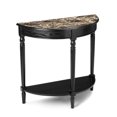 convenience concepts french country entryway table shop convenience concepts french country black half round
