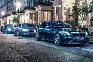 Mercedes S-class vs Audi A8 vs BMW 7-series (2018) triple