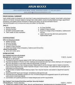 Inventory Specialist Resume Epic Analyst Resume Example Pro Healthcare Sussex Wisconsin