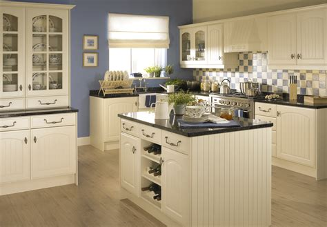 kitchen color schemes with wood cabinets cream kitchen ideas with wooden flooring and countertop