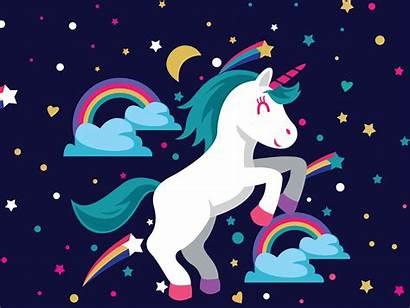 Unicorn Rainbow Wallpapers Unicorns Desktop Girly Cartoon