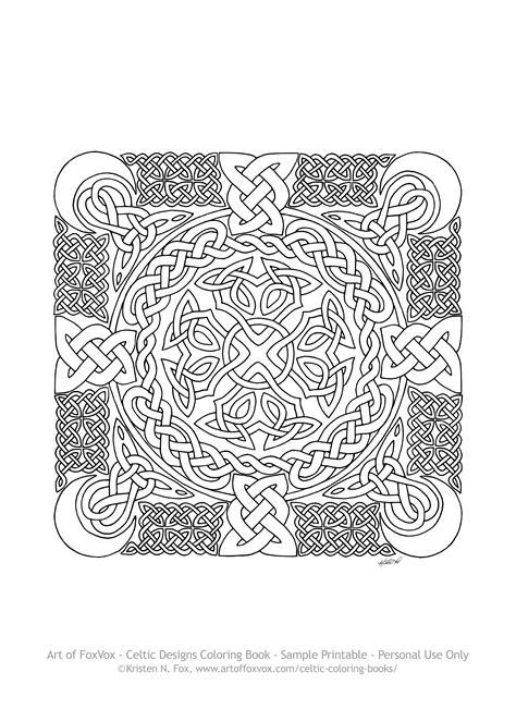 Coloring Book Celtic Designs Murderthestout