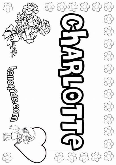 Charlotte Coloring Pages Names Template Sheets Hellokids